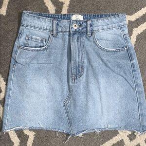 91 cotton on jean mini skirt denim 4 cutoff